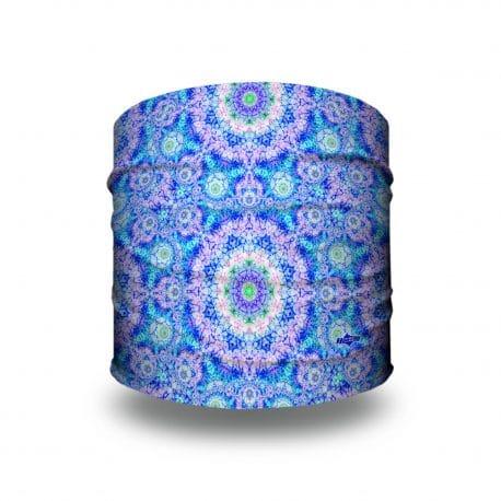 blue pink mandala headband