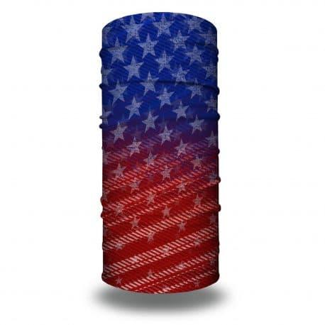 red white and blue american flag bandana