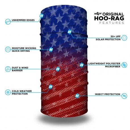 red white and blue american flag bandana features list