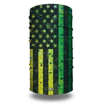 extra large mahi themed american flag neck gaiter