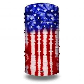 extra large tie dye american flag bandana