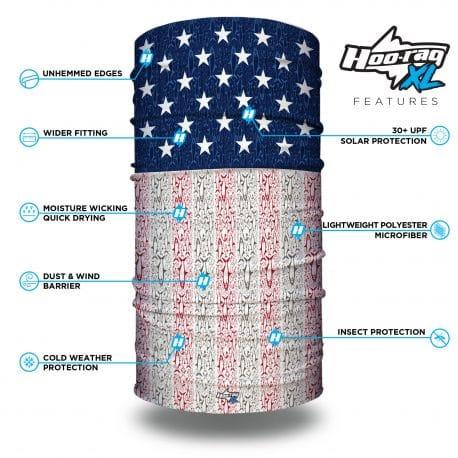 extra large american grand slam fishing bandana features list