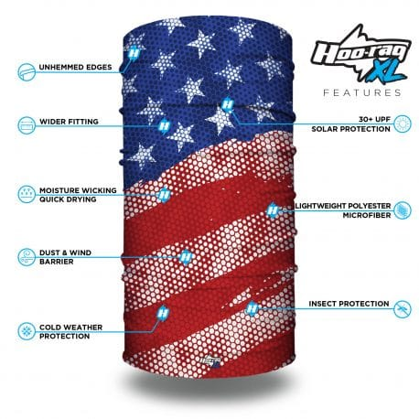 extra large modern styled american flag bandana features list