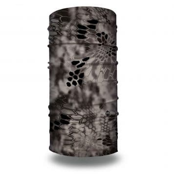 image of a tubular bandana in the kryptek raid camo design