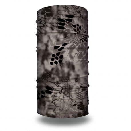 image of a tubular bandana in the kryptek raid camo design