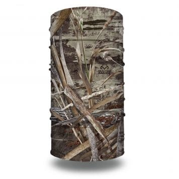 image of a tubular bandana in the realtree max5 camo design