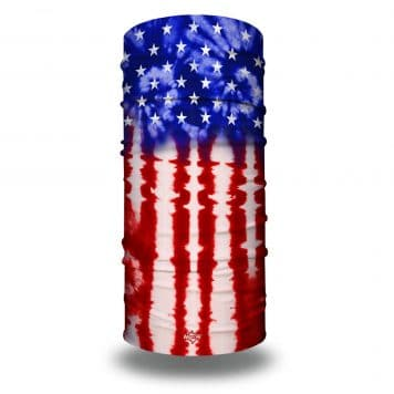tie dye american flag bandana