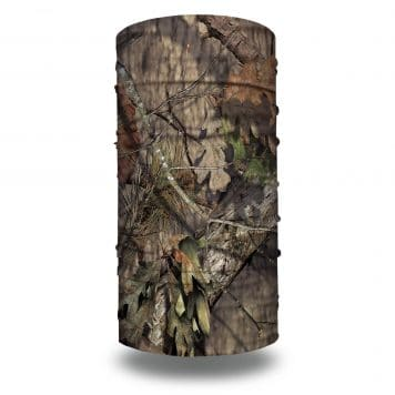 camo neck gaiter in the mossy oak break-up country camo style