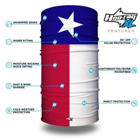 extra large texas state flag face mask bandana