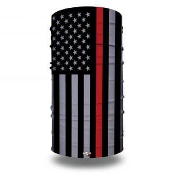 extra large thin red line american flag bandana