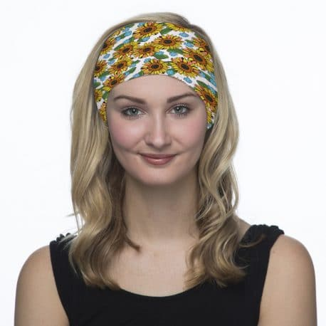 sunflower headband model shot