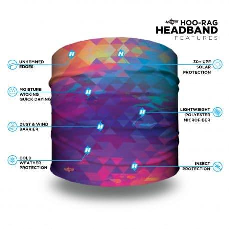 neon triangle headband features list
