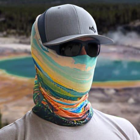 wyoming grand prismatic national park bandana model shot