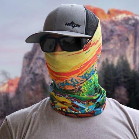 california yosemite national parks bandana model shot