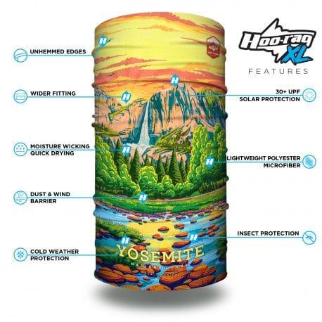 extra large california yosemite national parks bandana features list