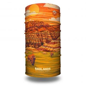 extra large south dakota badlands neck gaiter bandana